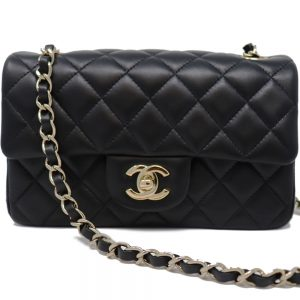 Classic Chanel Mini Flap in Black