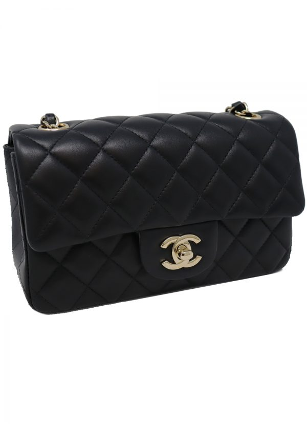 Classic Chanel Mini Flap in Black