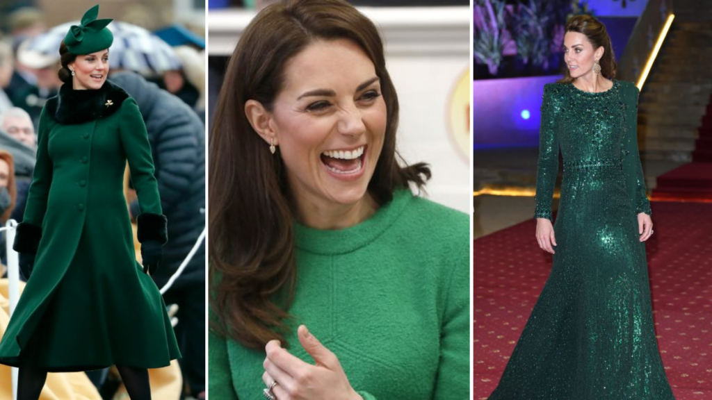 The Duchess of Cambridge appears to love wearing green