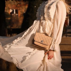 Chanel Business Affinity in beige handbag