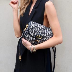 Dior Medium Bobby Bag in Blue Oblique handbag