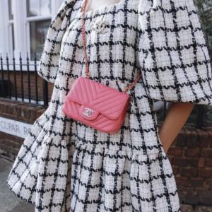 Chanel Pink Chevron Mini Flap handbag