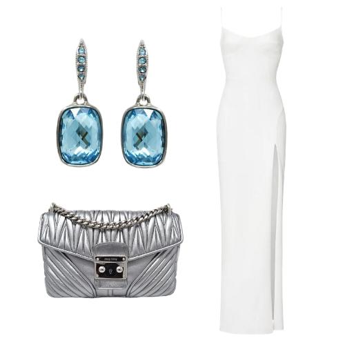 Vintage Givenchy Crystal Earrings and Miu Miu Matelasse